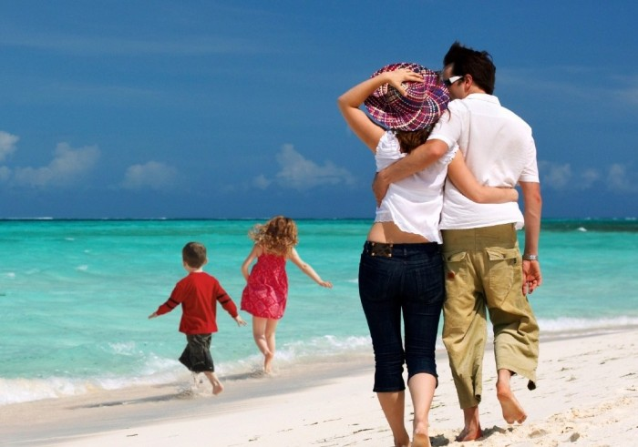 Family beach